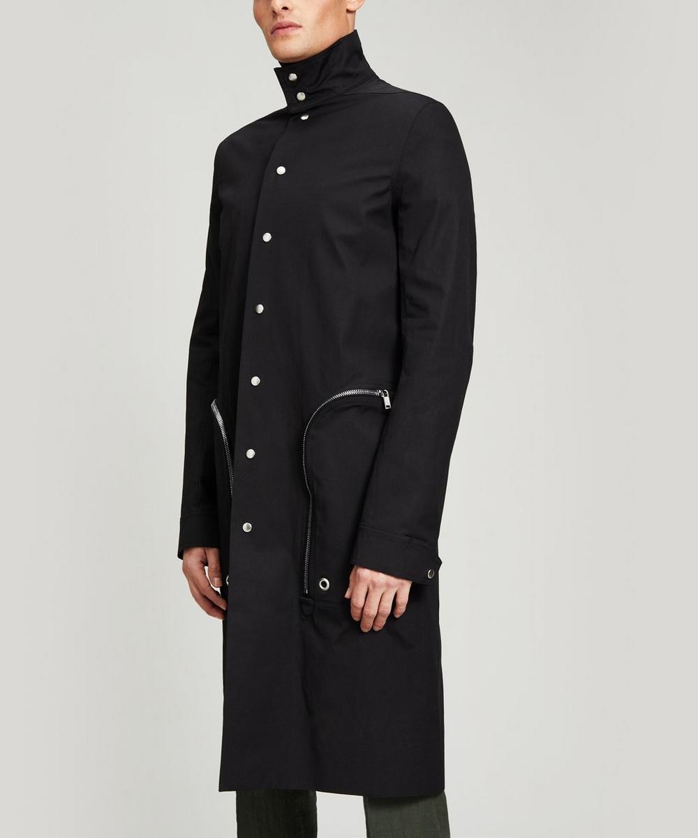 Rick Owens - Zip Pocket Long Nylon Coat