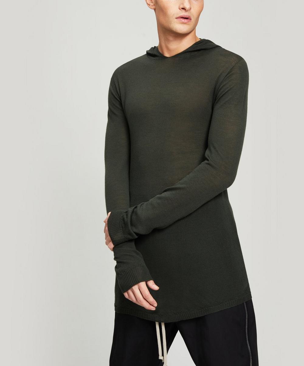 Rick Owens - Hooded Merino Wool Top