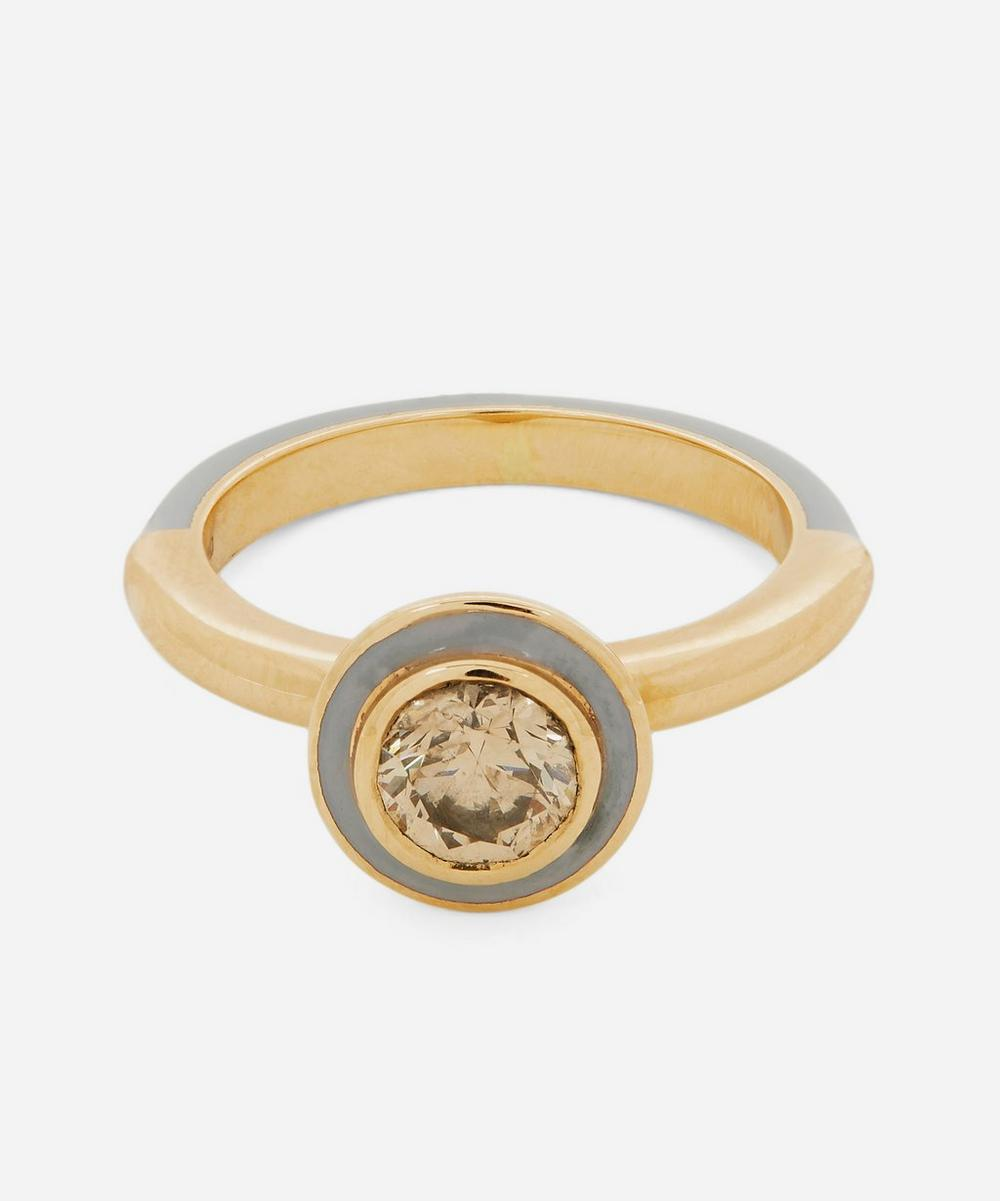 Alice Cicolini - Gold Candy Lacquer Round Champagne Diamond Ring