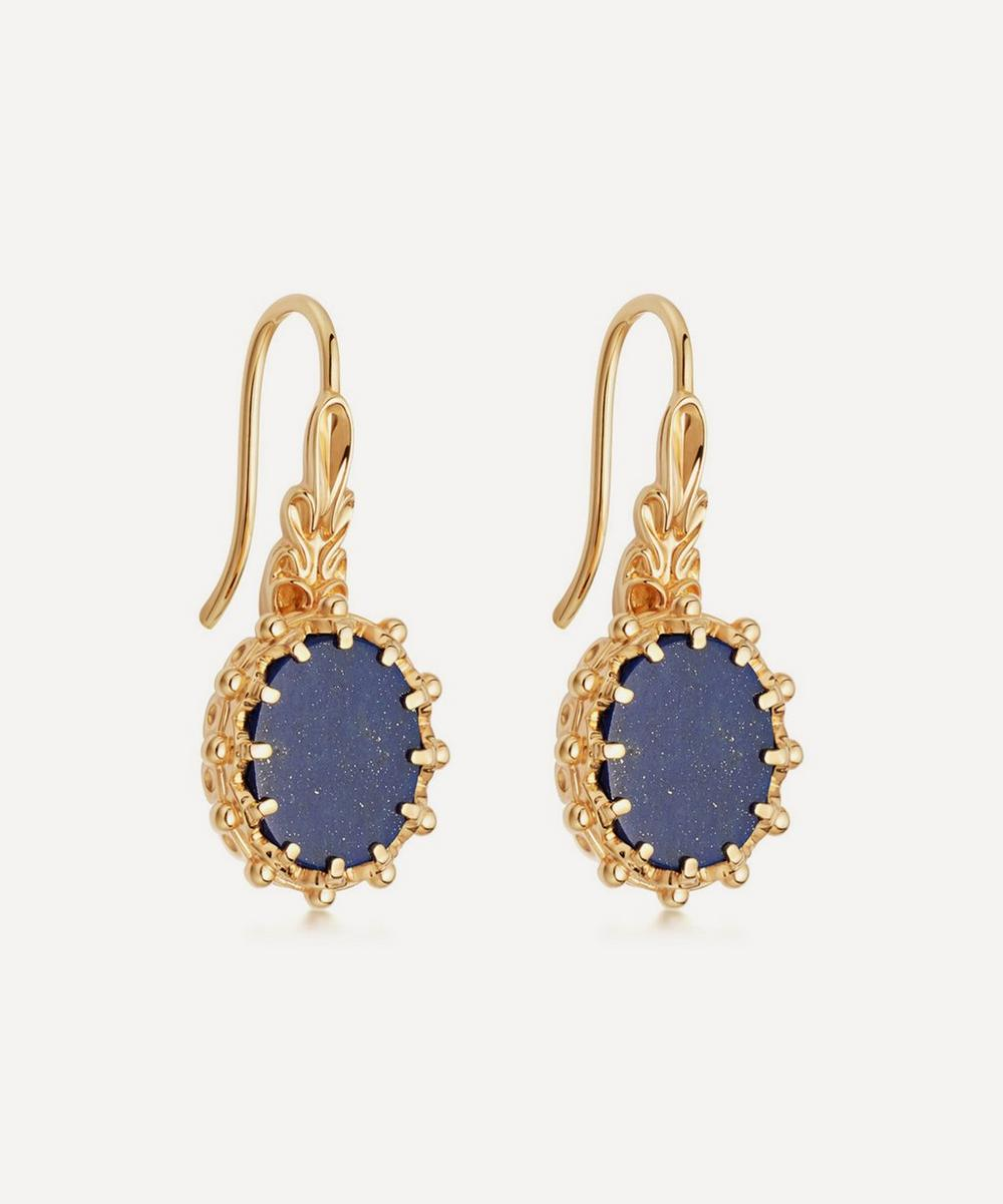 Astley Clarke - Gold Plated Vermeil Silver Floris Lapis Lazuli Drop Earrings