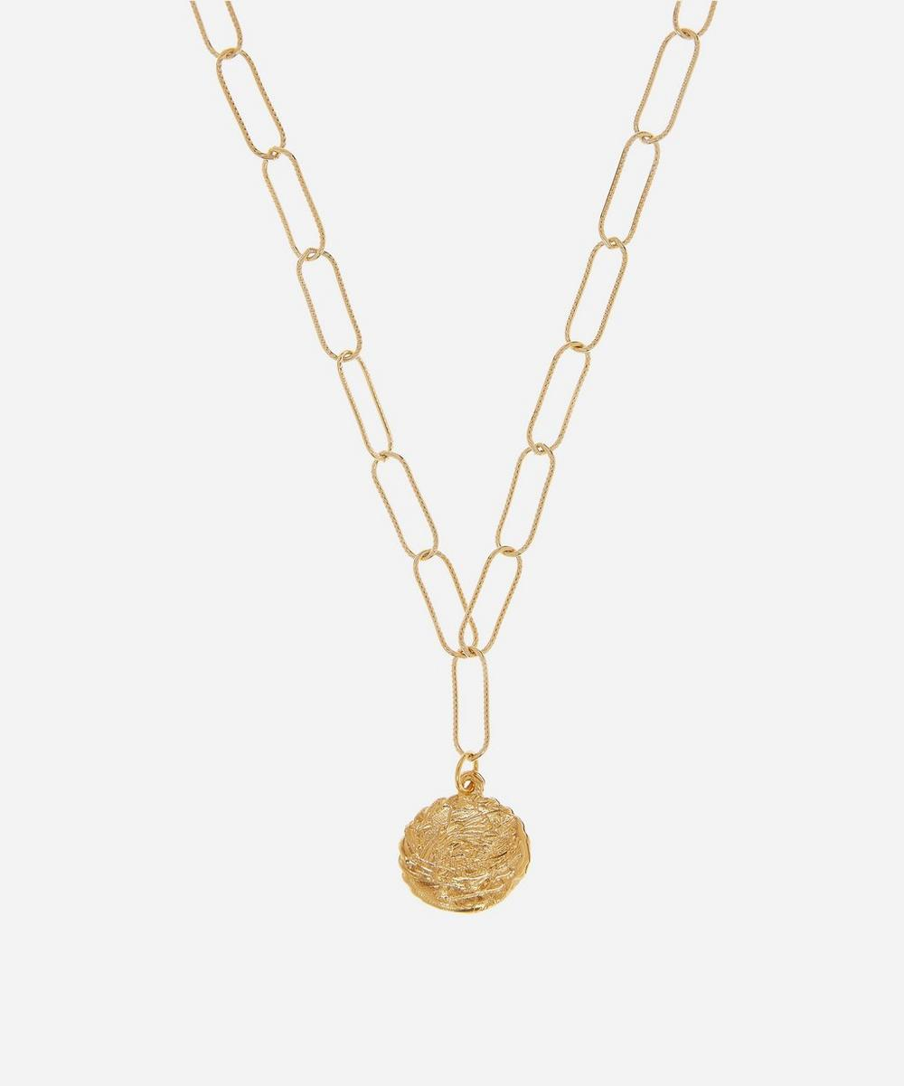 Alighieri - Gold-Plated The Columba Pendant Necklace