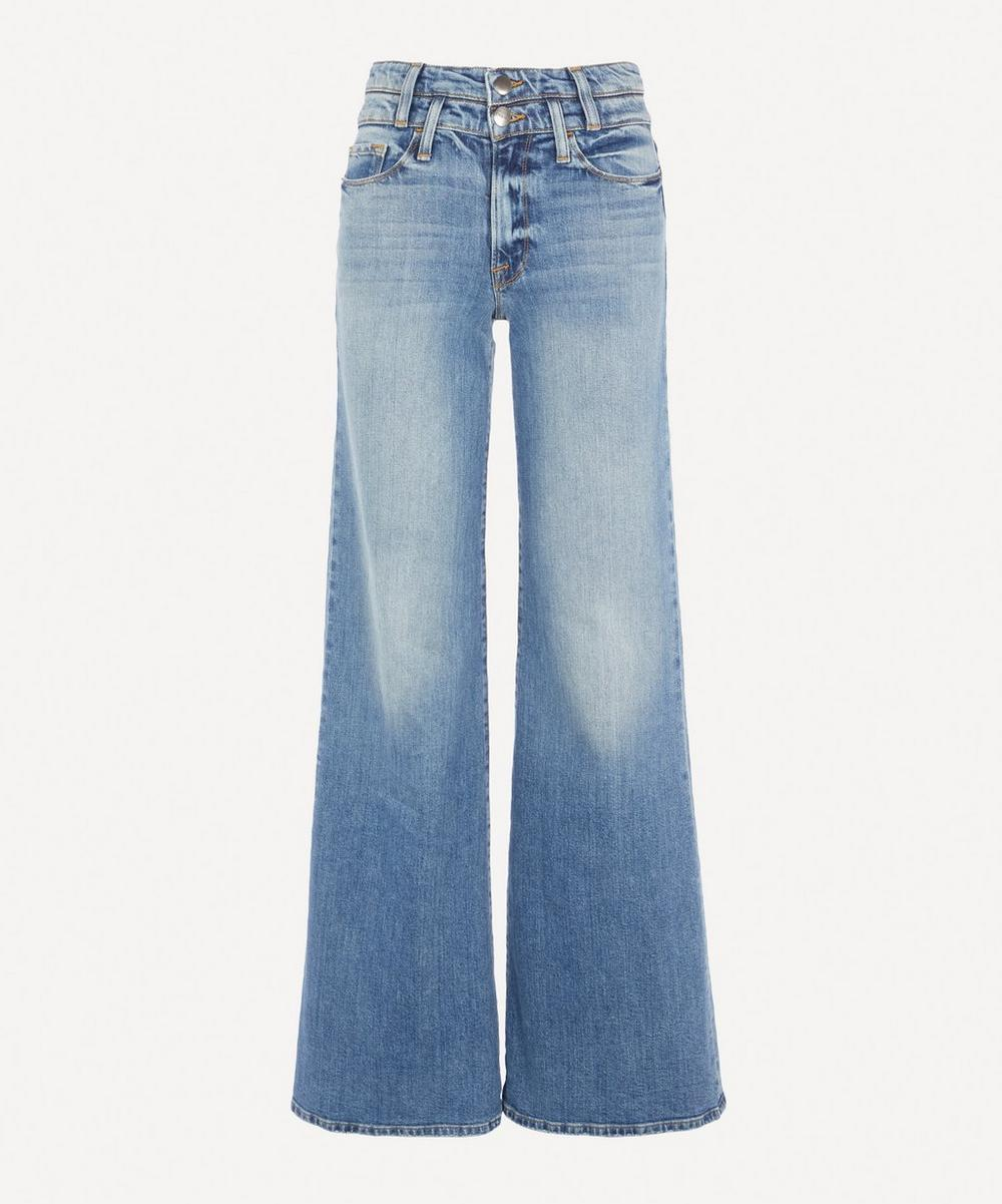 Frame - Le Palazzo Double-Waistband Flared Jeans