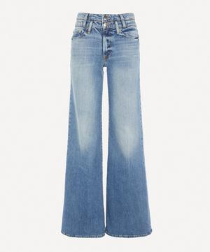 Le Palazzo Double-Waistband Flared Jeans