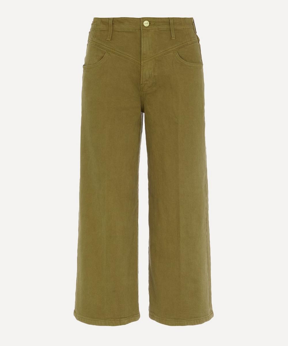 Frame - Ali Wide Crop Retro Jeans