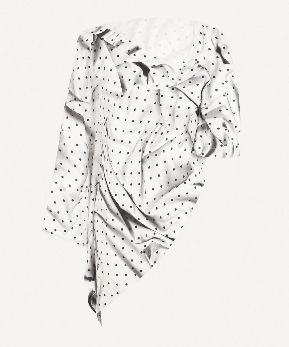 MM6 Maison Margiela - Polka Dot Drape Top