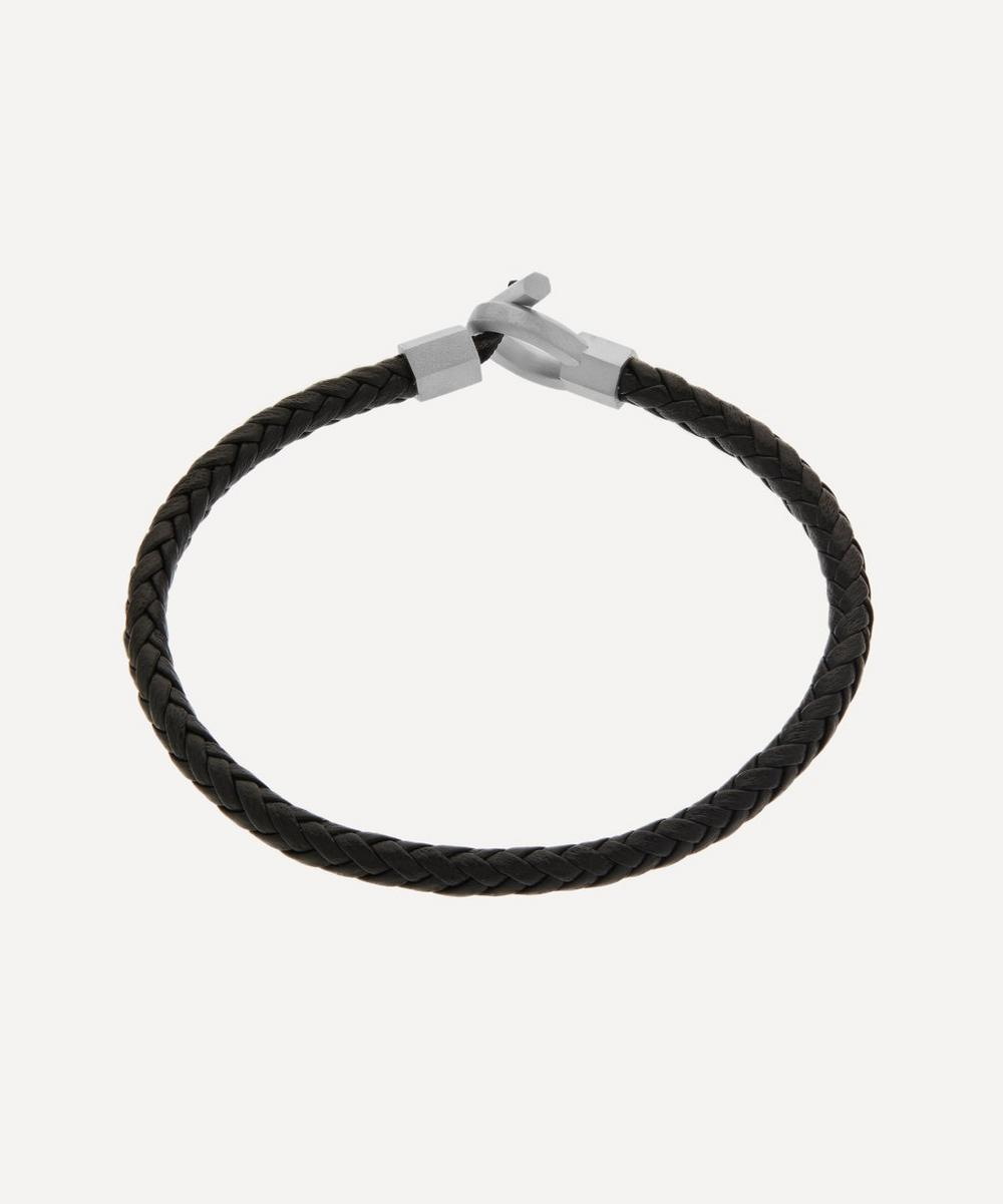 Miansai - Sterling Silver Atlas Leather Bracelet