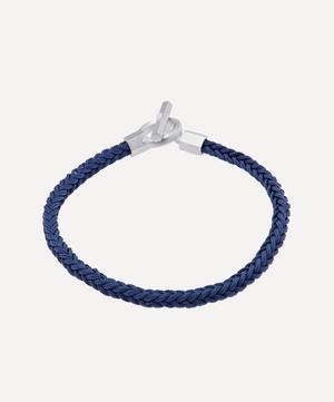 Sterling Silver Atlas Leather Bracelet