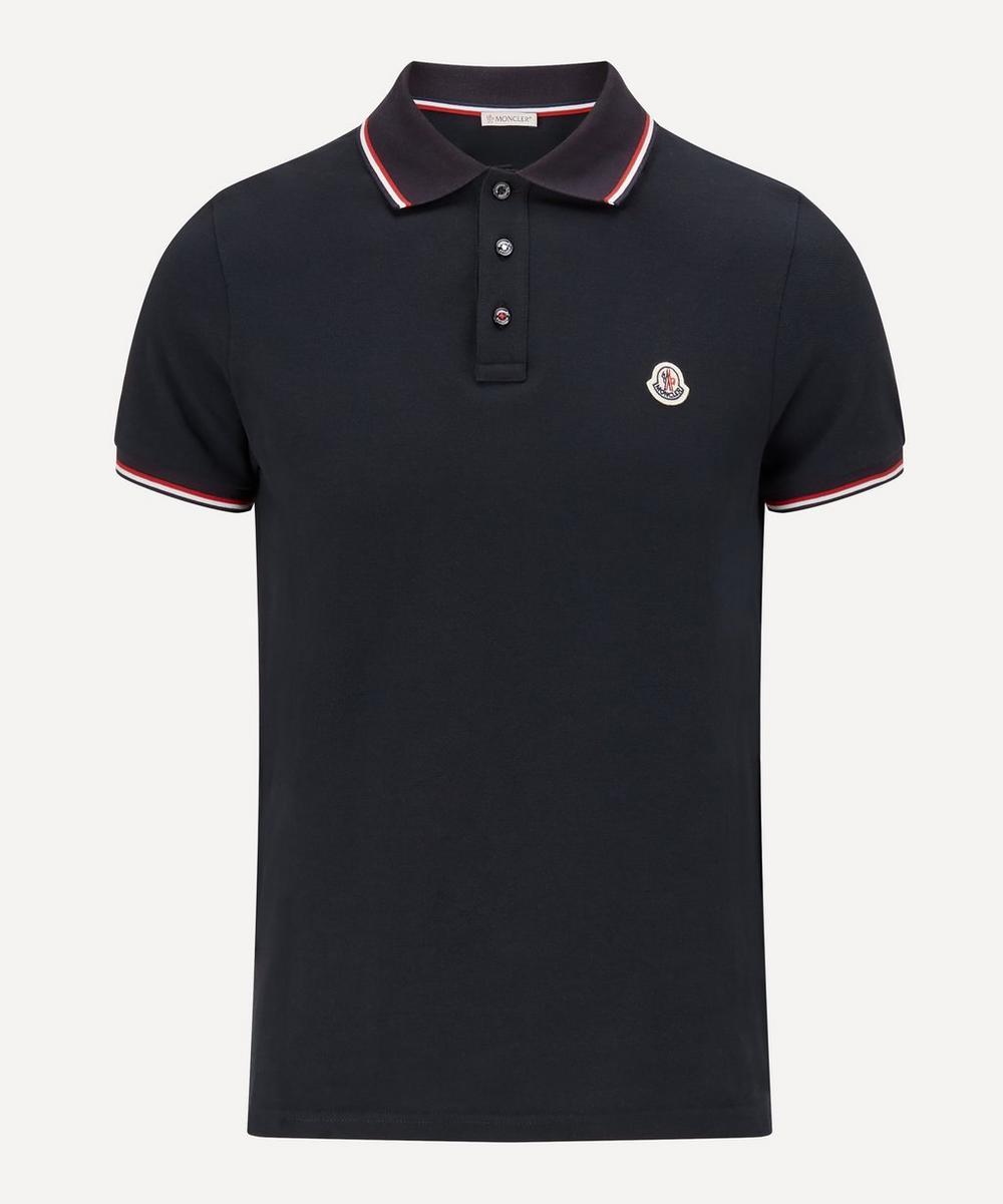 Moncler - Striped-Trim Polo Shirt