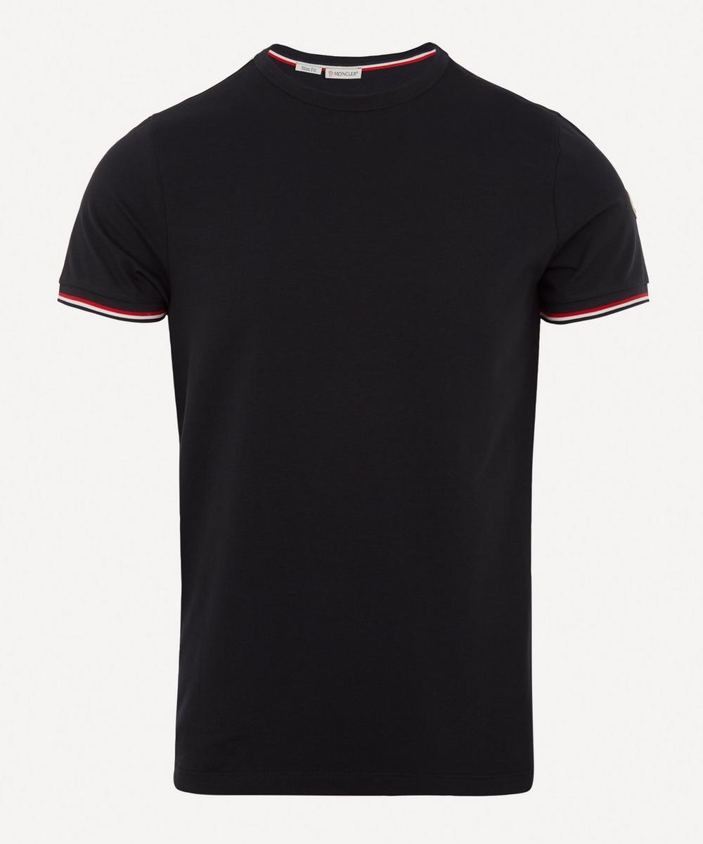 Moncler - Tricolour-Tipped Stretch-Cotton T-Shirt