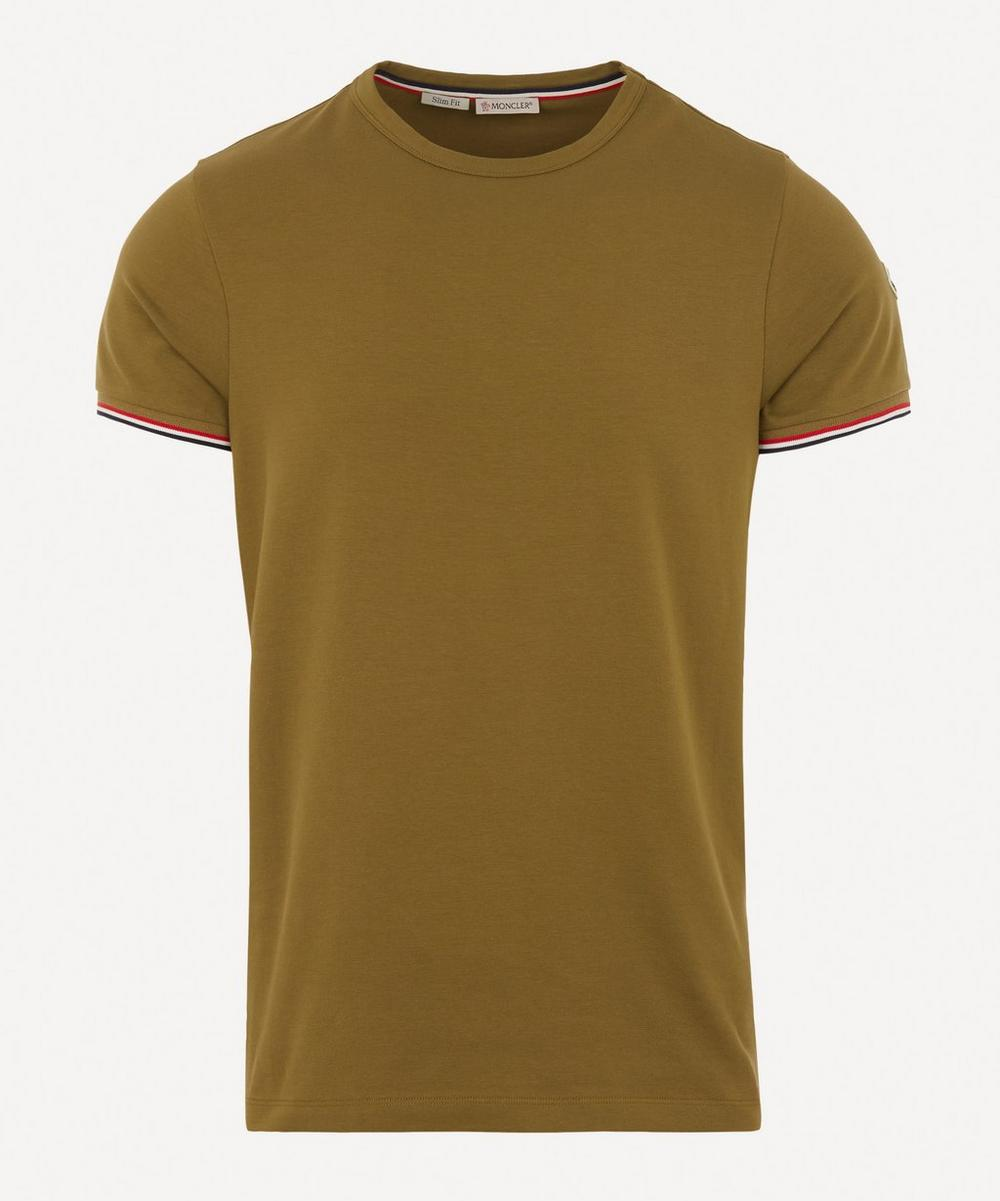 Moncler - Tricolour-Tipped Stretch-Cotton T-Shirt