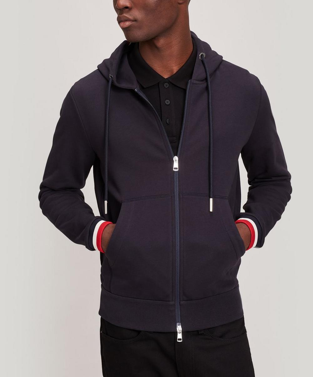 Moncler - Tri-Colour Trim Hooded Jumper
