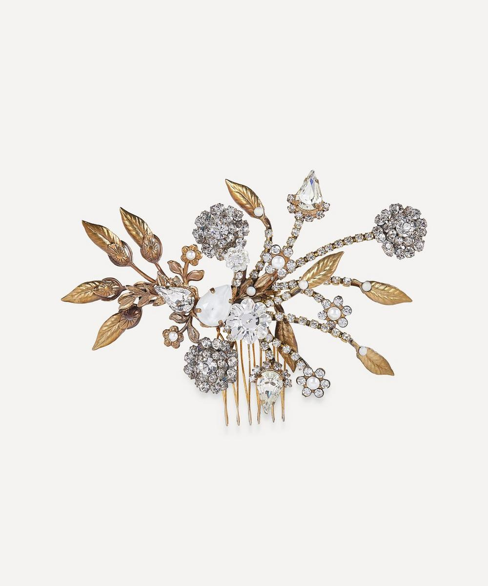 Halo & Co - Henrietta Crystal and Pearl Comb Clip