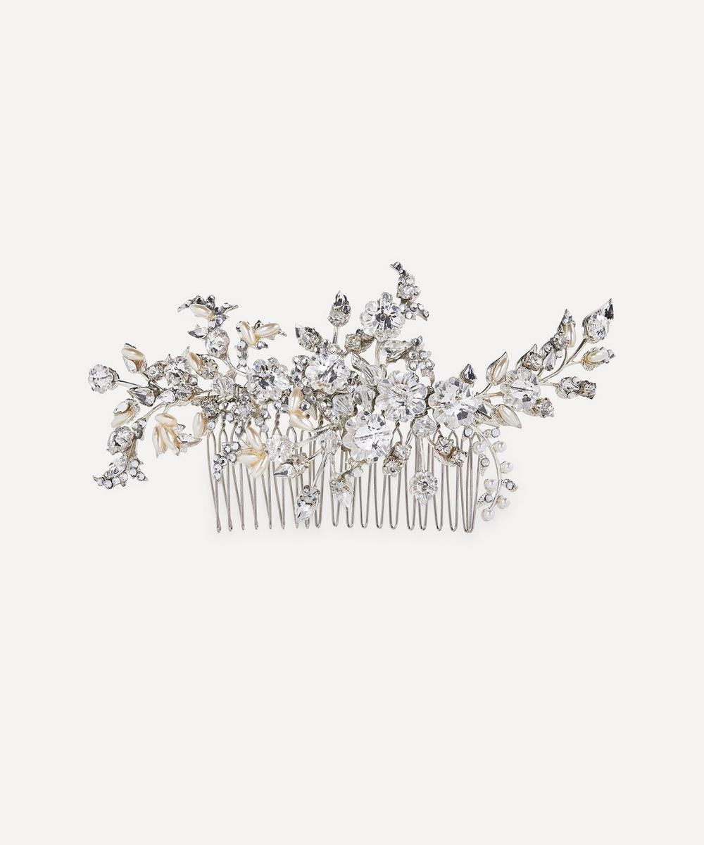 Halo & Co - Kendra Crystal and Pearl Comb Clip