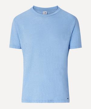 Dylan Crew-Neck Linen T-Shirt
