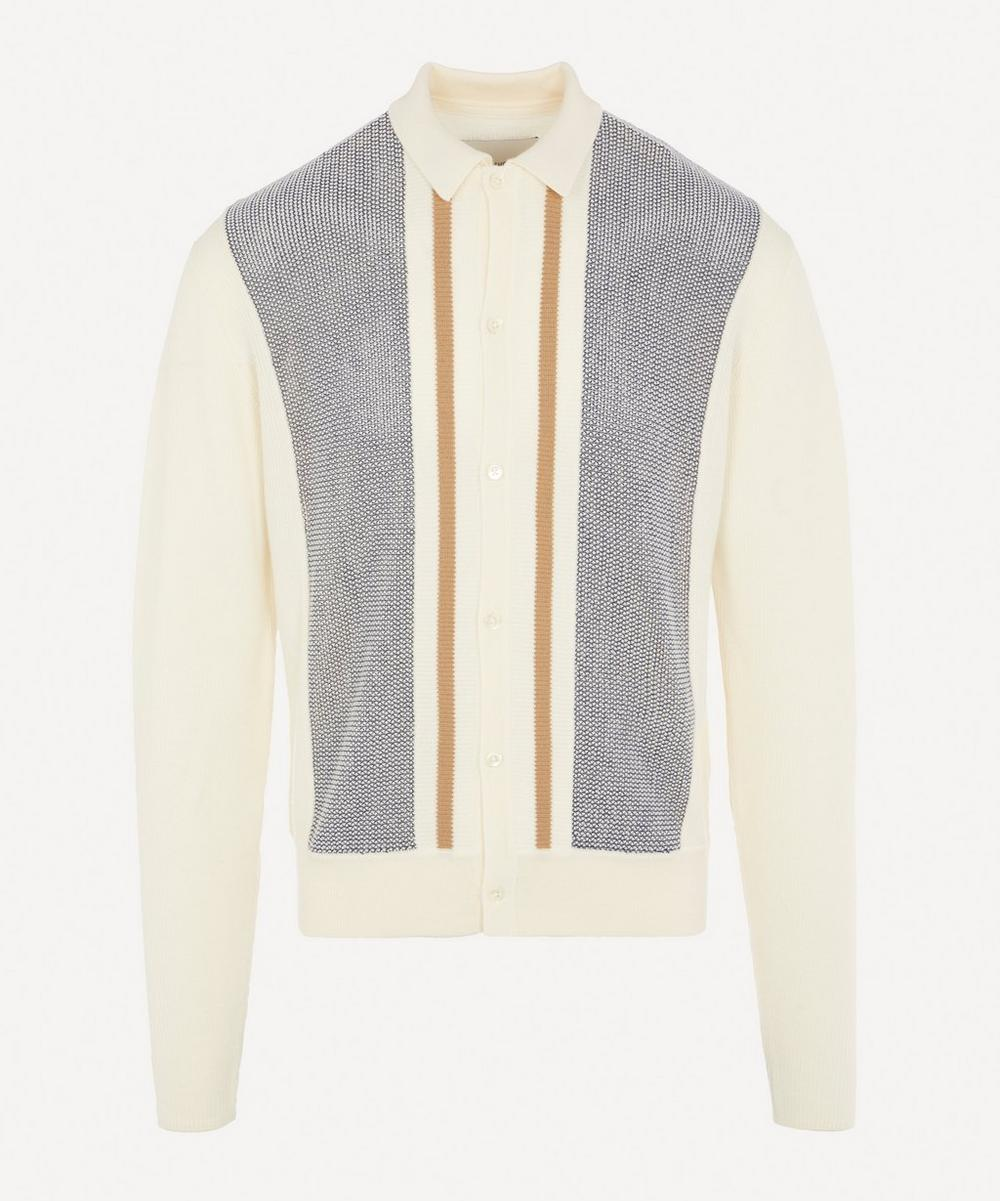 King & Tuckfield - Merino Wool Collared Cardigan