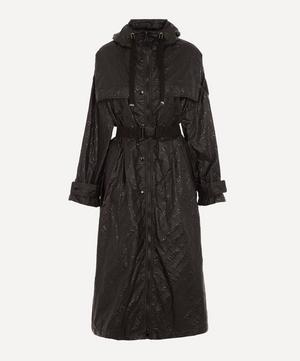 Bouteille Embossed Nylon Trench Coat