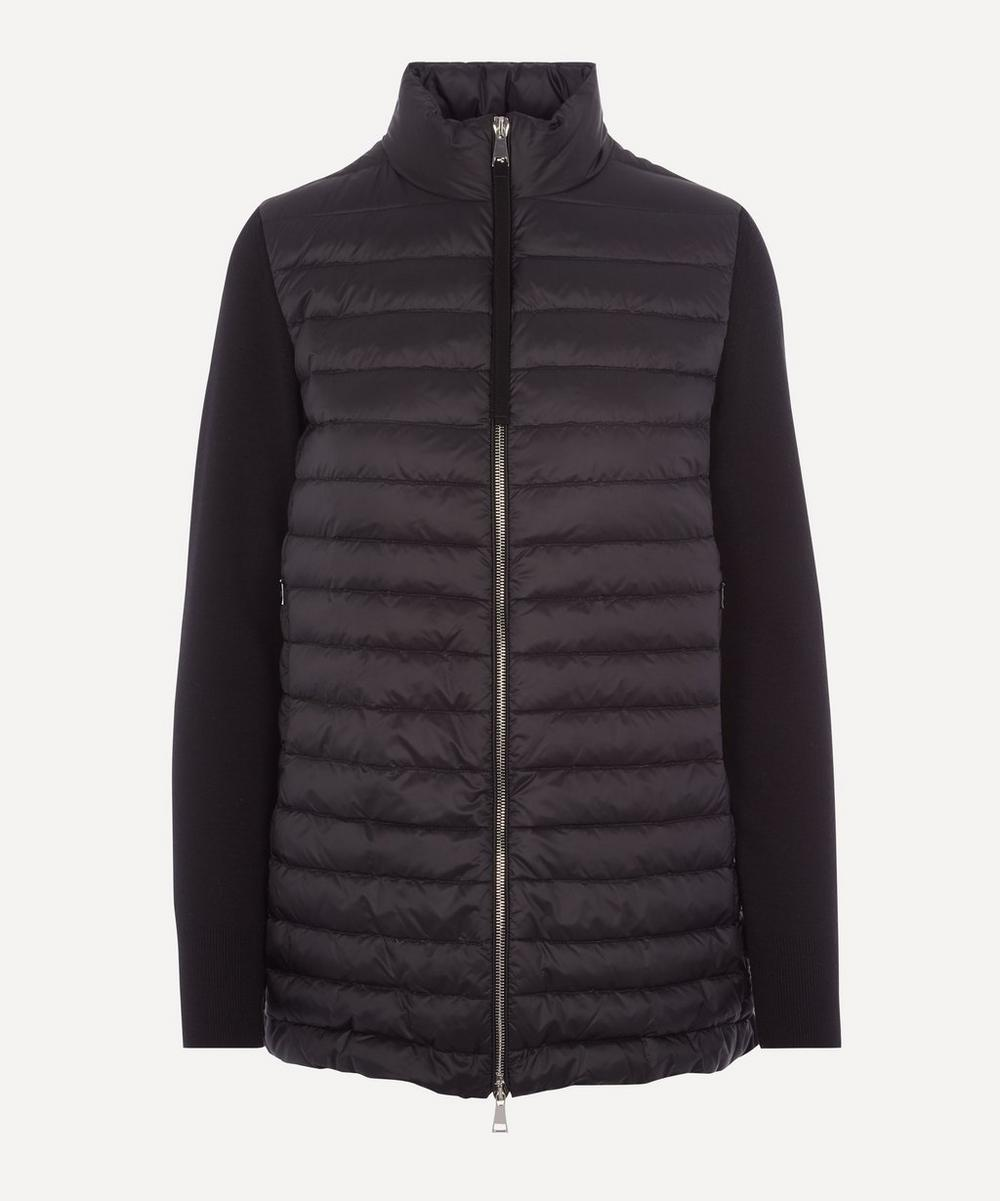 Moncler - Knitted Wool and Nylon-Blend Down Jacket