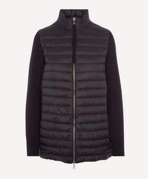 Knitted Wool and Nylon-Blend Down Jacket