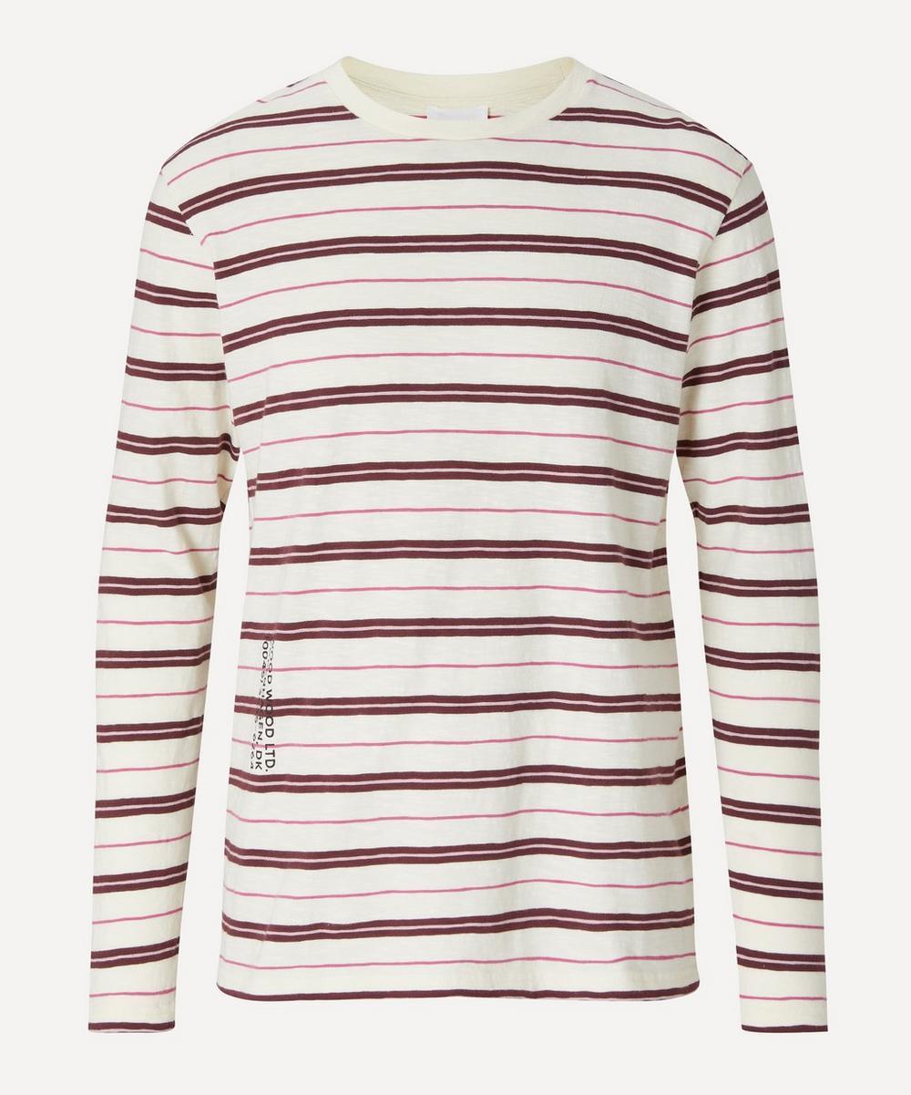 Wood Wood - Peter Striped Long-Sleeve T-Shirt
