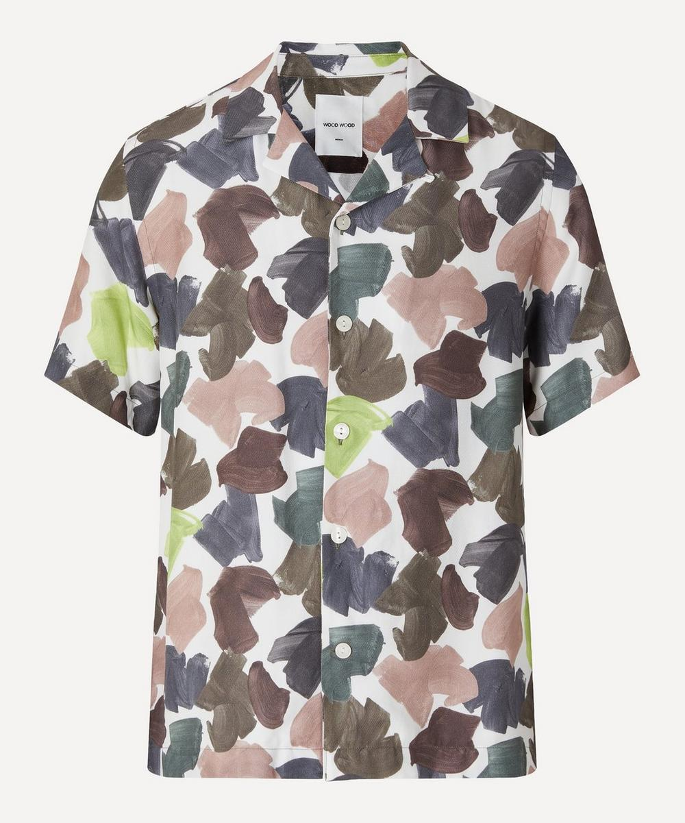 Wood Wood - Brandon Brush Print Short-Sleeve Shirt