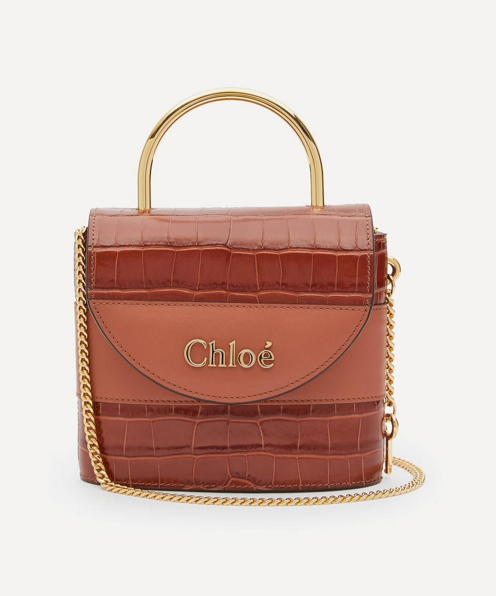 Chloé - Aby Small Leather Lock Handbag
