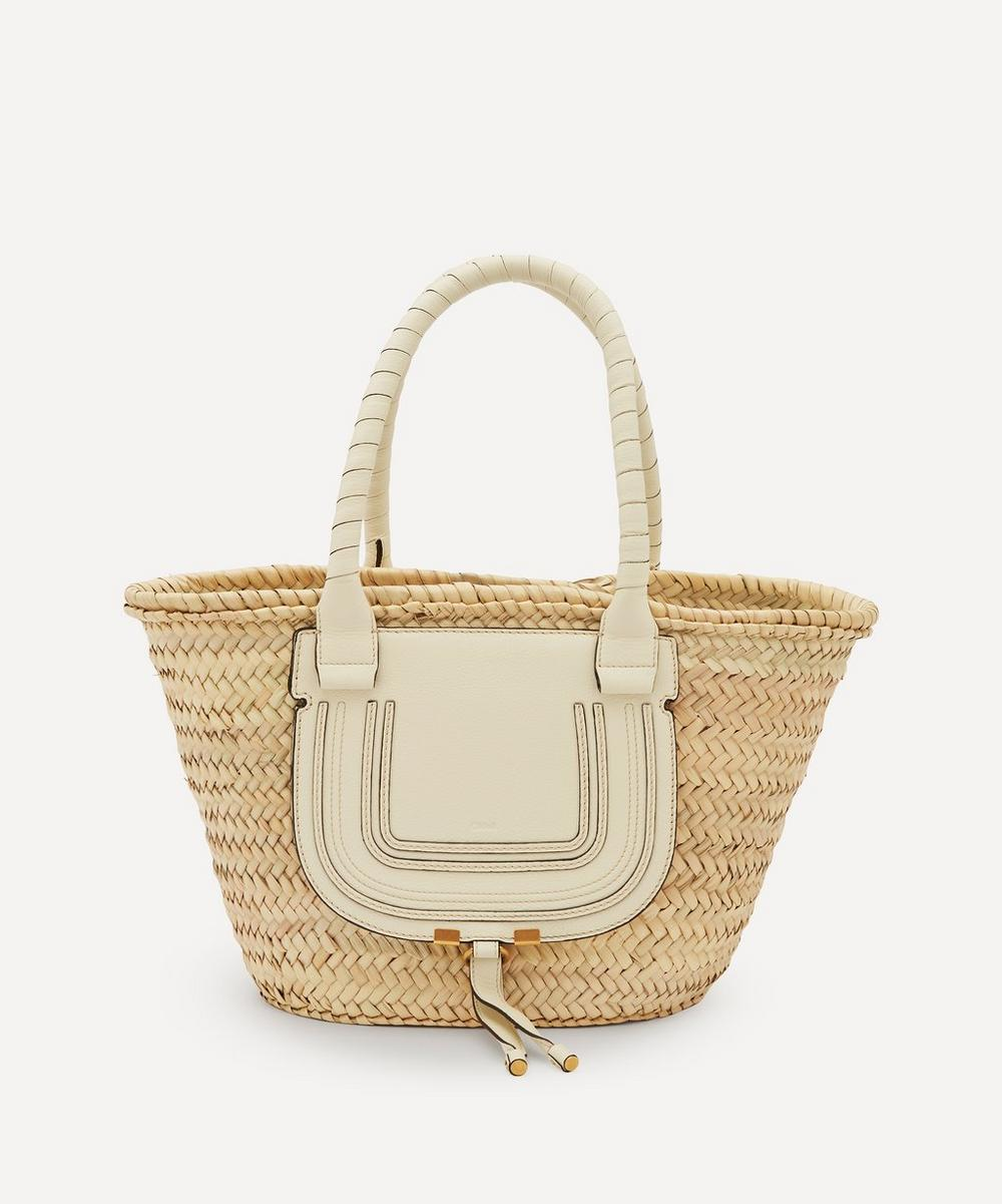 Chloé - Marcie Medium Raffia and Leather Basket Bag