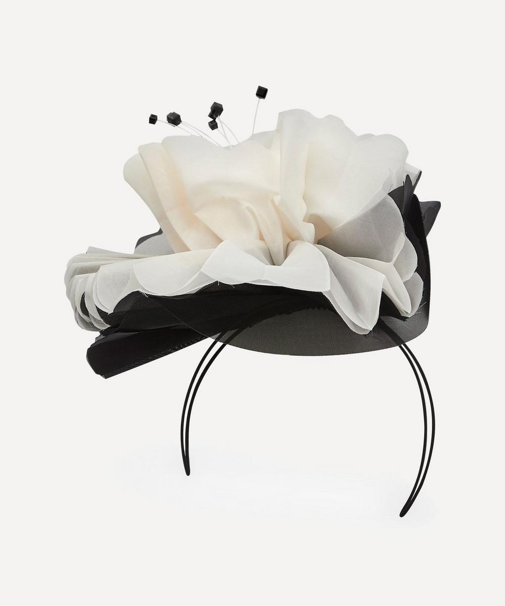 Stephen Jones - Pleated Silk Waterlily Headpiece