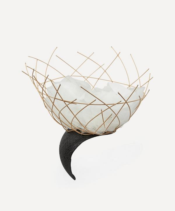 Stephen Jones - Contain Cane and Tulle Basket Headpiece