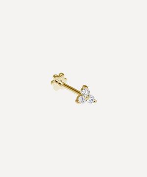 Diamond Trinity Threaded Stud Earring