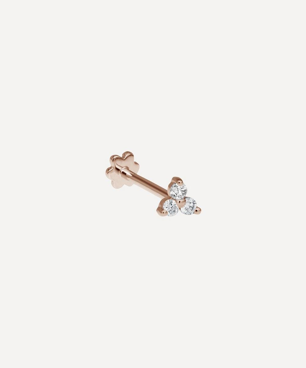 Maria Tash - Diamond Trinity Threaded Stud Earring
