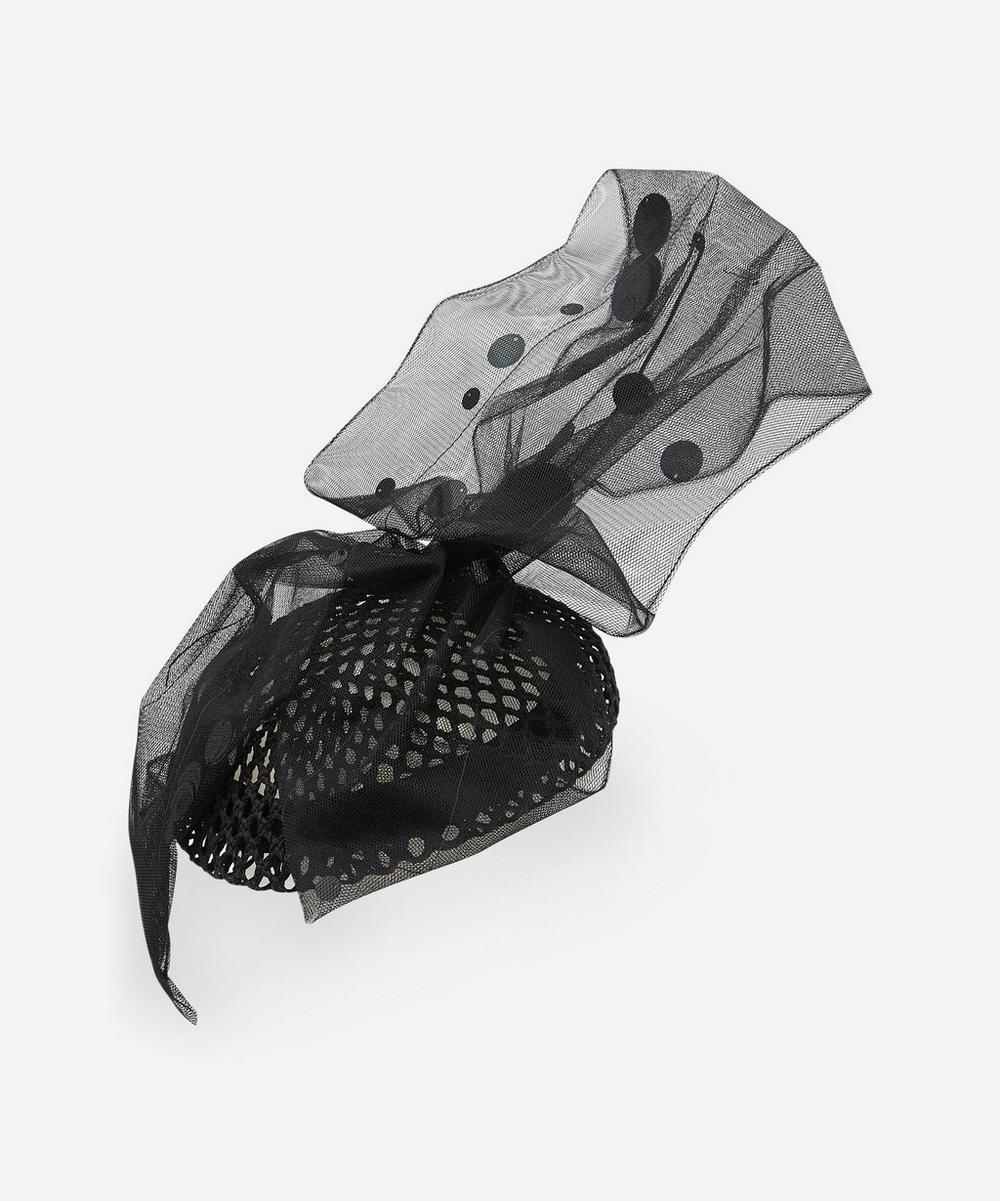 Stephen Jones - Sparkle Sequin Bow Fishnet Beret