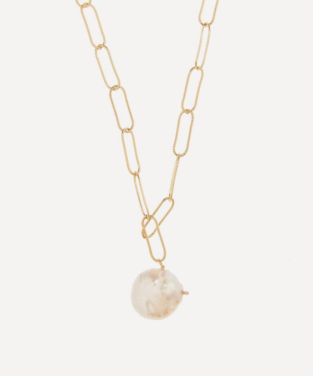 Alighieri - Gold-Plated The Water Bearer Baroque Pearl Pendant Necklace