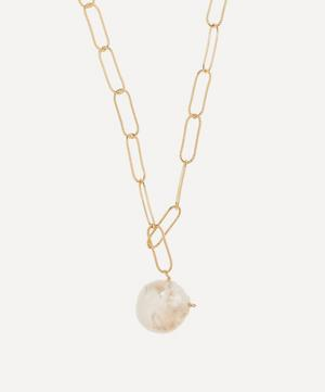 Gold-Plated The Water Bearer Baroque Pearl Pendant Necklace