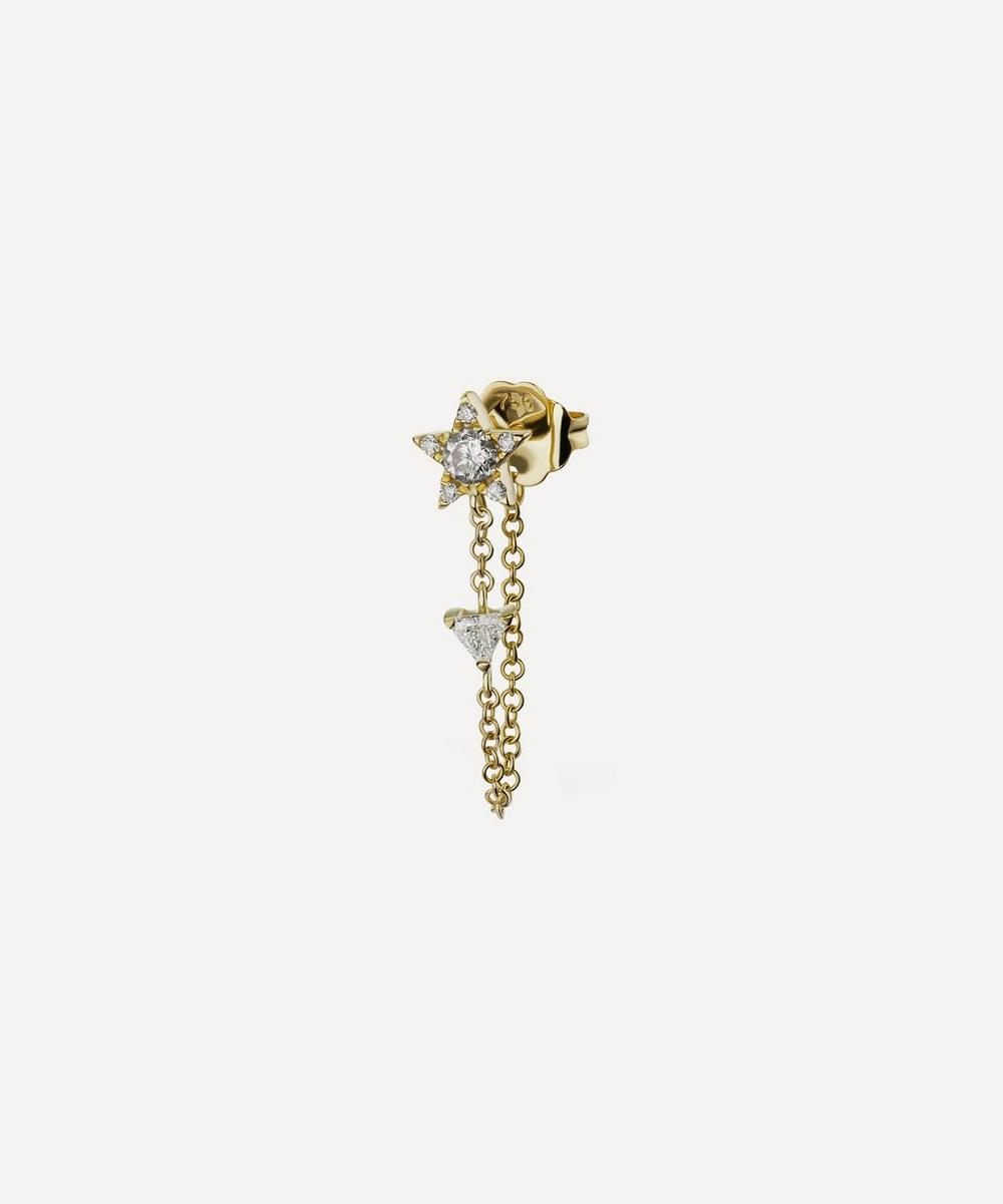 Maria Tash - Diamond Star and Trillion Chain Wrap Stud Earring