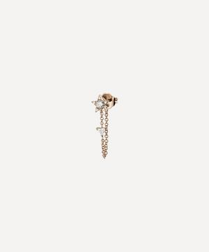 Diamond Star and Trillion Chain Wrap Stud Earring