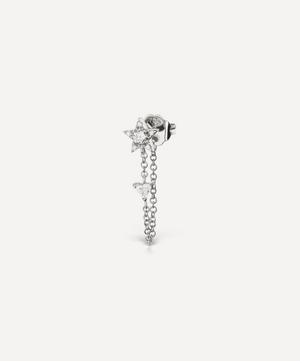 Diamond Star and Trillion Chain Wrap Stud Earring