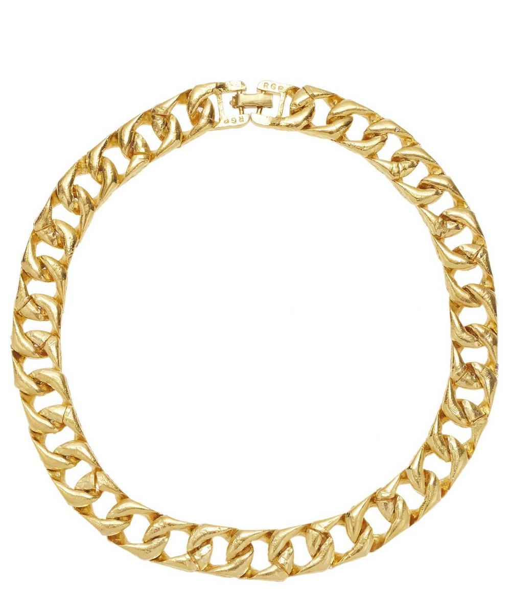 Susan Caplan Vintage - Gold-Plated 1990s Textured Chain Necklace