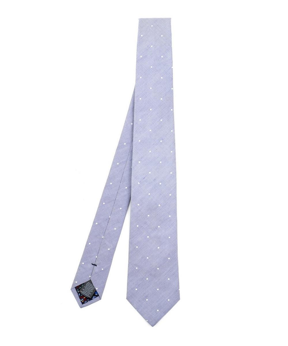Paul Smith - Classic Silk-Linen Dot Tie