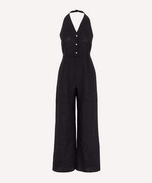 Beirut V-Neck Linen Jumpsuit