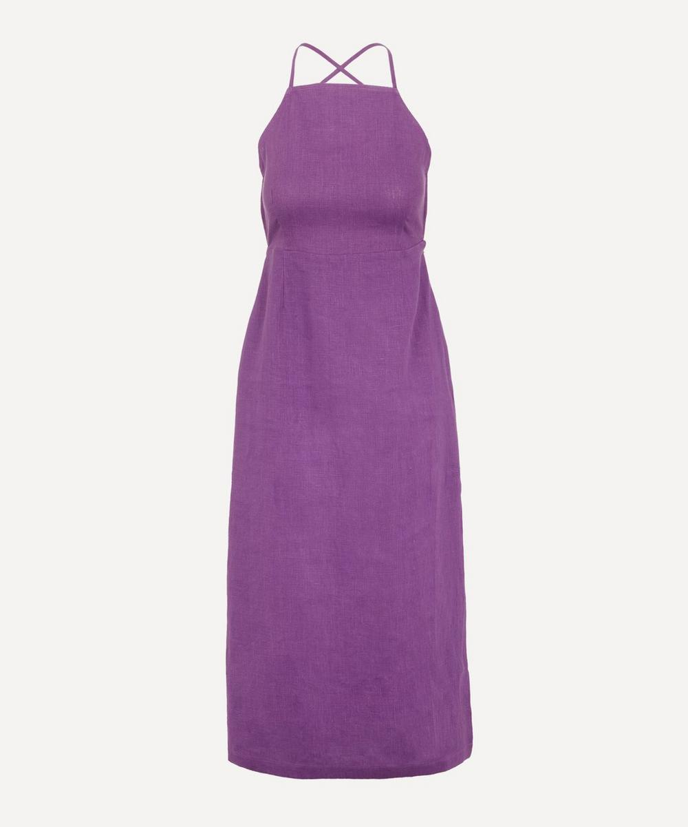 Paloma Wool - Carlota Open Back Linen Midi-Dress