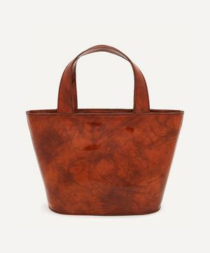 Dinus Small Patent Leather Tote Bag