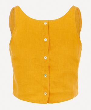 Colombine Open-Back Linen Top
