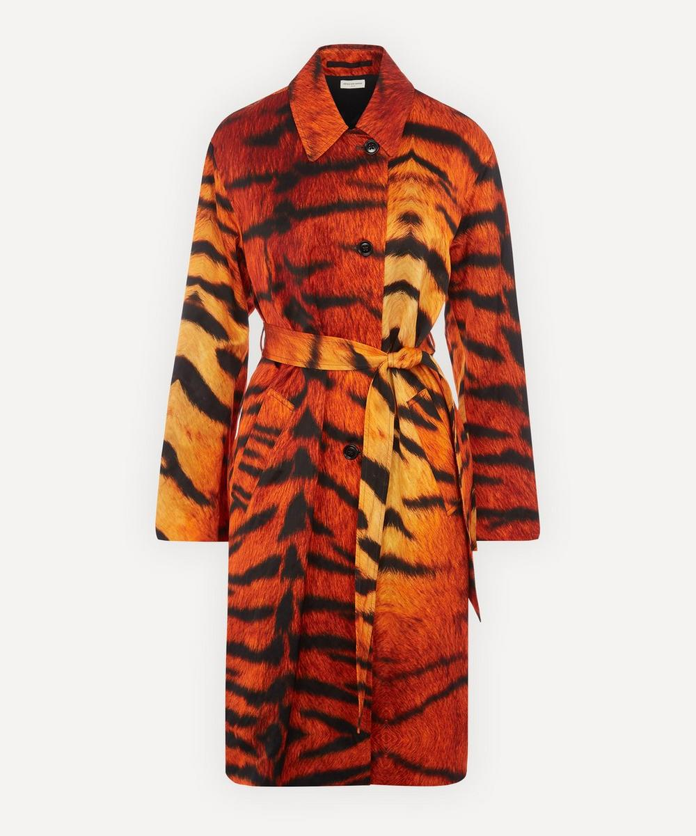 Dries Van Noten - Tiger Printed Cotton Trench Coat