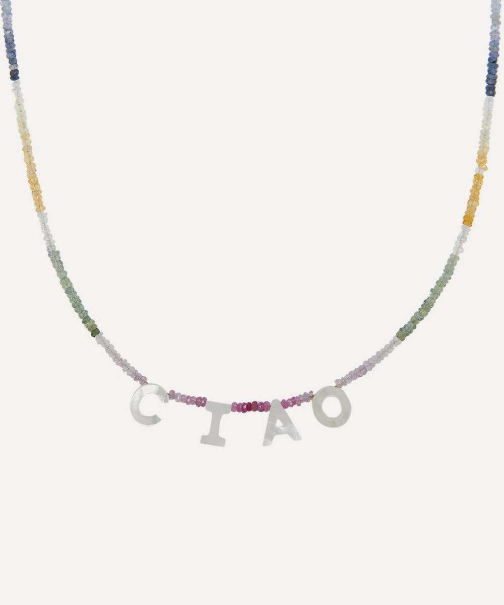Roxanne First - CIAO Rainbow Sapphire Beaded Necklace