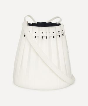 Mini Pleated Leather Bucket Bag