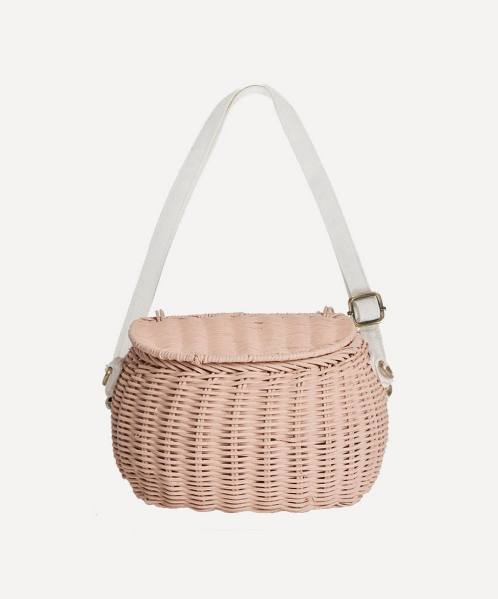 Olli Ella - Mini Chari Basket Bag in Rose