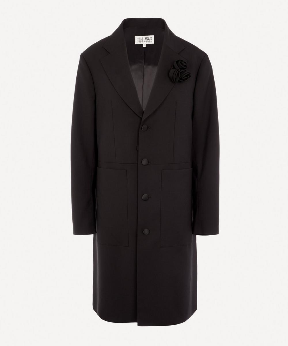 MM6 Maison Margiela - Flower Appliqué Coat
