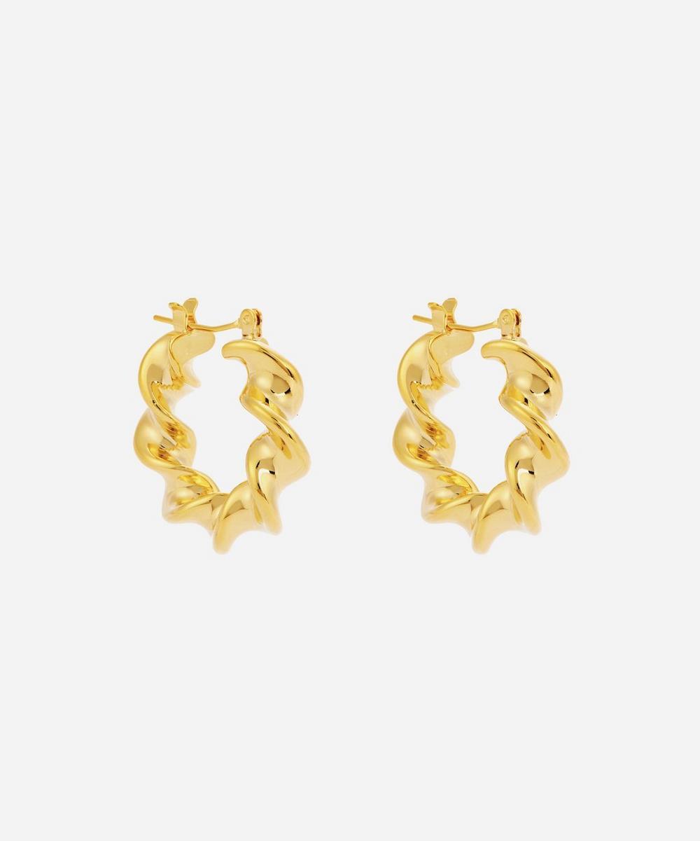 Moya - Gold-Plated Marta Hoop Earrings