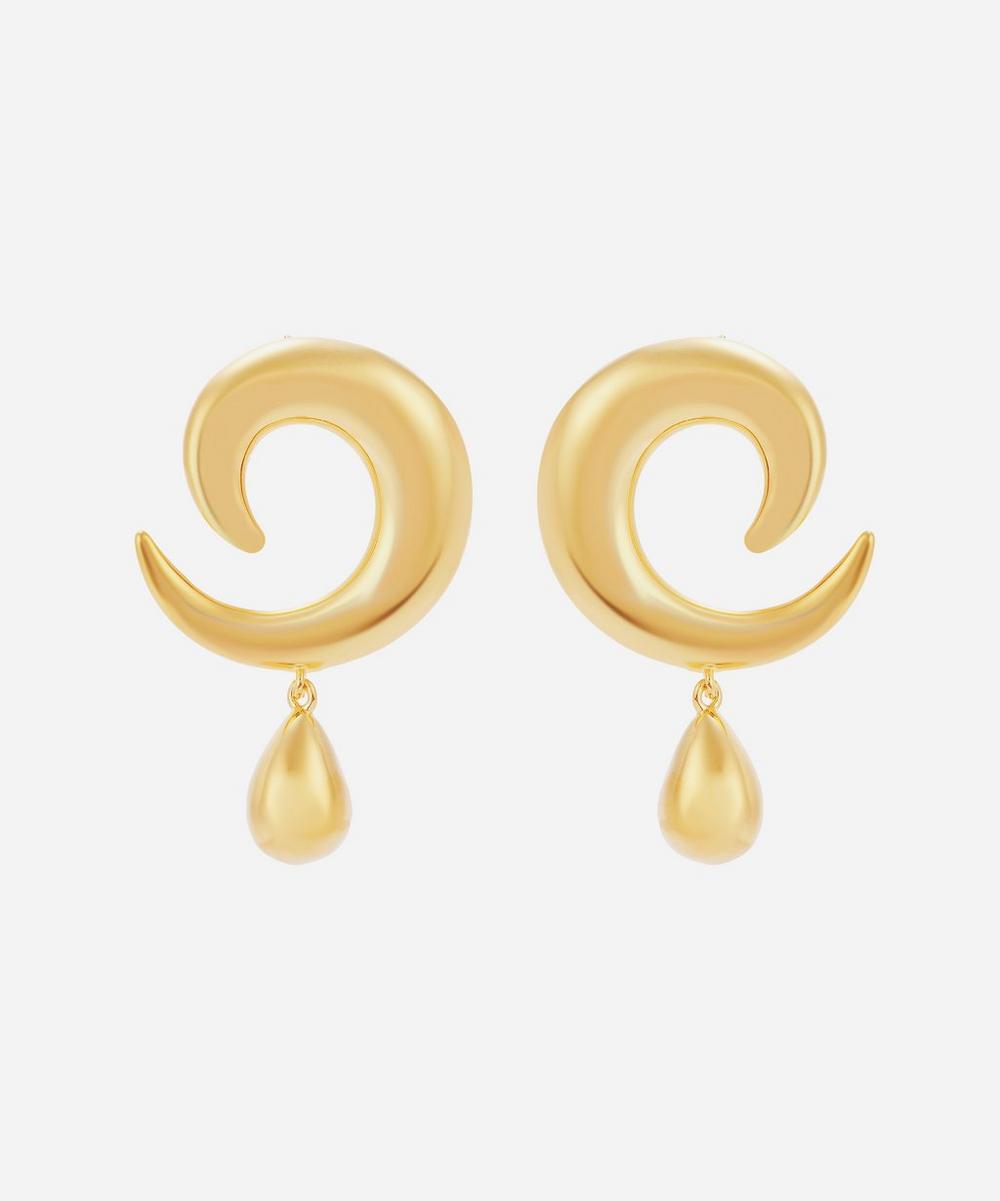 Moya - Gold-Plated Alexia Drop Earrings