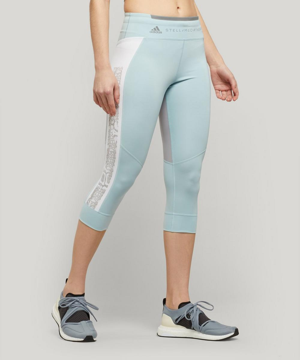 adidas by Stella McCartney - Run Three-Quarter Snake Panel Leggings